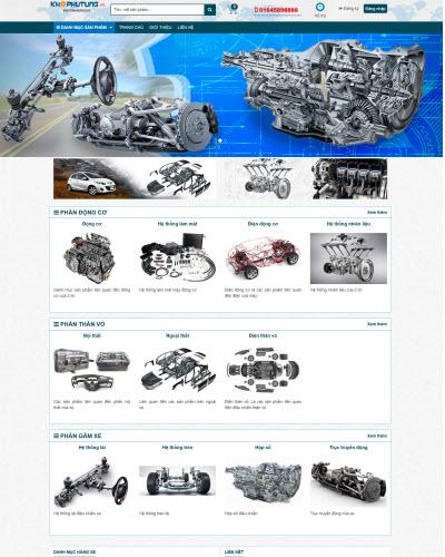 Thiết kế website bán hàng phụ tùng ô tô