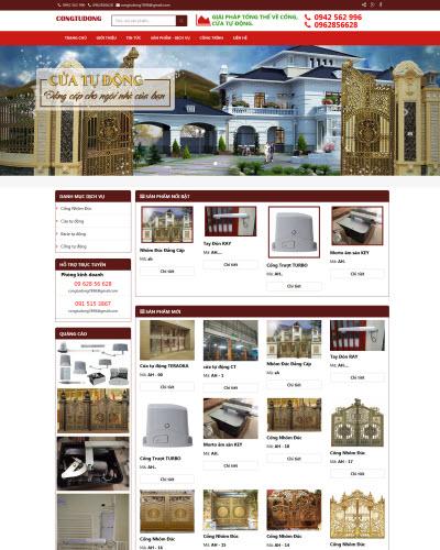 Thiết kế website bán hàng cổng tự động
