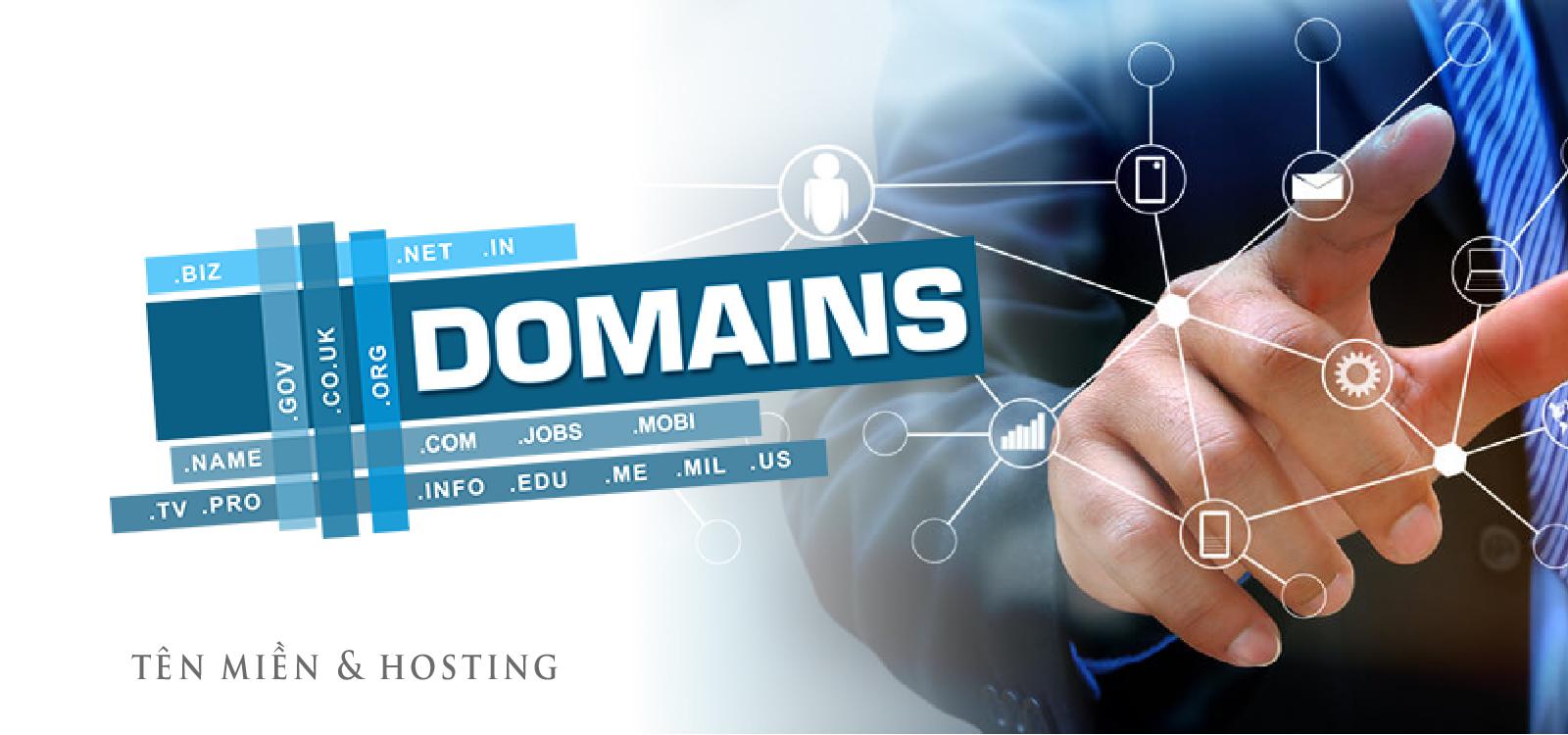 Tên miền và không gian lưu trữ - domain - hosting